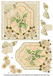 Lily of the Valley Happy Anniversary 6in Floral Step by Step