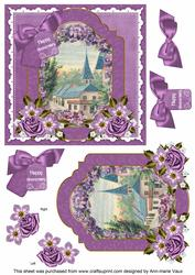 Lavender View Happy Anniversary 6in Floral Step by Step