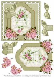 Wedding Bell Happy Anniversary 6in Floral Step by Step