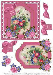 Wildflowers Happy Anniversary 6in Floral Step by Step