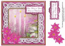 Pink Poinsettia Ours to Yours 8in Sentiment Step by Step