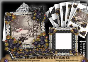 Winter Walk Lace Top Easel Card & Envelope Kit