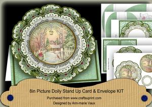 Garden Seasonsgreetings 3D Picture Doily Card & Envelope Kit