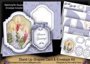 Candle Trio Seasons Greetings Fancy Stand Up Kit