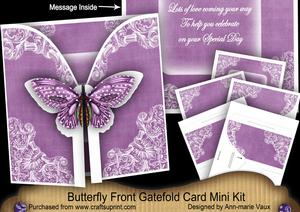 Purple Butterfly Special Day2 3D Gatefold Butterfly Mkit