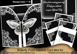 Black Butterfly Special Day2 3D Gatefold Butterfly Mkit