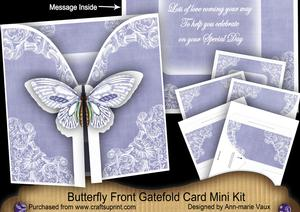 Blue Butterfly Special Day2 3D Gatefold Butterfly Mkit