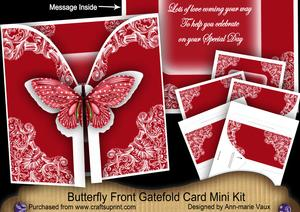 Red Butterfly Special Day2 3D Gatefold Butterfly Mkit
