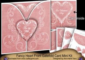 Pink Valentine for My Wife 3D Gatefold Heart Mini Kit