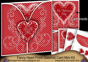Red Valentine for My Wife 3D Gatefold Heart Mini Kit
