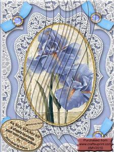 Blue Iris Lace N Bows A4 Side Stacker Kit
