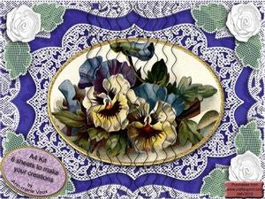Blue Pansies A4 Wavy Side Stacker Kit