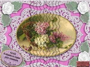 Basket of Lilacs A4 Wavy Side Stacker Kit
