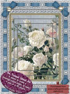 White Roses Lace Eyelet A4 Tunnel Kit
