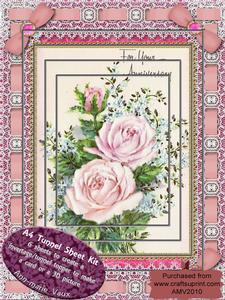 Anniversary Roses Lace Eyelet A4 Tunnel Kit