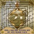 Gold 21st Birthday 8inch Square Tunnel Kit