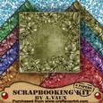 Floral Edge Vintage Tea 8 Scrapbooking Papers Kit