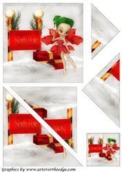 Christmas Fairy Triangle Corner Stacker