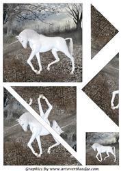 White Unicorn Triangle Corner Stacker