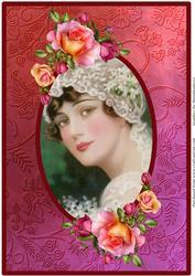 Vintage Bride Framed A4