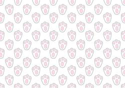 Easter Bunny Prints Backing Paper