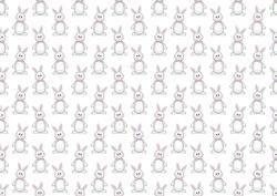 Easter Bunny Girl Backing Paper