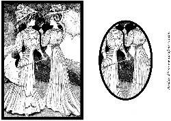 Vintage Ladies with Parasols Quick Card Front