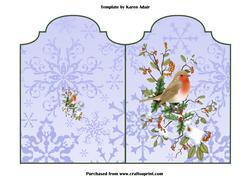 Cut and Fold Christmas Robin