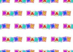 Daddy Word Backing Paper