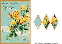 Mothers Day Card Diamond Panel