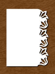 Over the Edge Border Card 12 - SVG, PDF