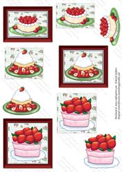 Yummy Strawberry Cakes