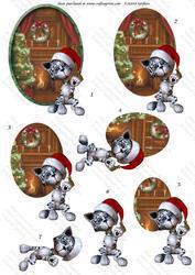 Christmas Kitties 1, Oval Decostacker