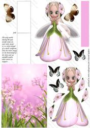 Flower Fairy 2, Shaped Easel Card