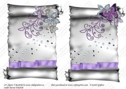 Elegant Scroll A5 Toppers 001