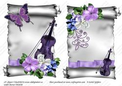 Elegant Scroll A5 Toppers 002