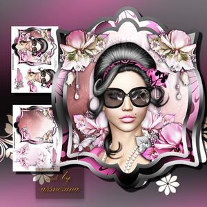 Retro Fashion Lady Style in Card Tag Form