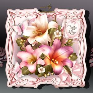 Soft Vintage Flowers Card Kit