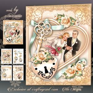 Anniversary Wedding Traditional Card Mini Kit