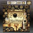 Merry Christmas and Happy Holidays with Champagne Card Kit