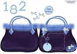 Bag Shaped Card Blue