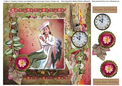 Time for a Holiday Card Topper & Decoupage