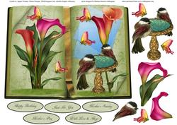 Book of Nature Topper with Decoupage