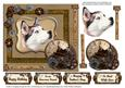 Huskey Portrait and Steam Punk Time Bits Decoupage
