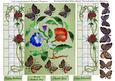 Stained Glass Window Topper & Butterfly Decoupage