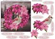 Pink Poinsettia Scenic Wreath Topper with Decoupage