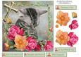 Kitten Prayers Card Topper with Decoupage