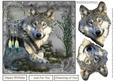 Wolf Dreams Card Topper with Decoupage
