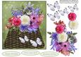 Flower and Butterfly Basket Topper with Decoupage