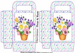 Springflowers on Dots, Medium Gift Bag